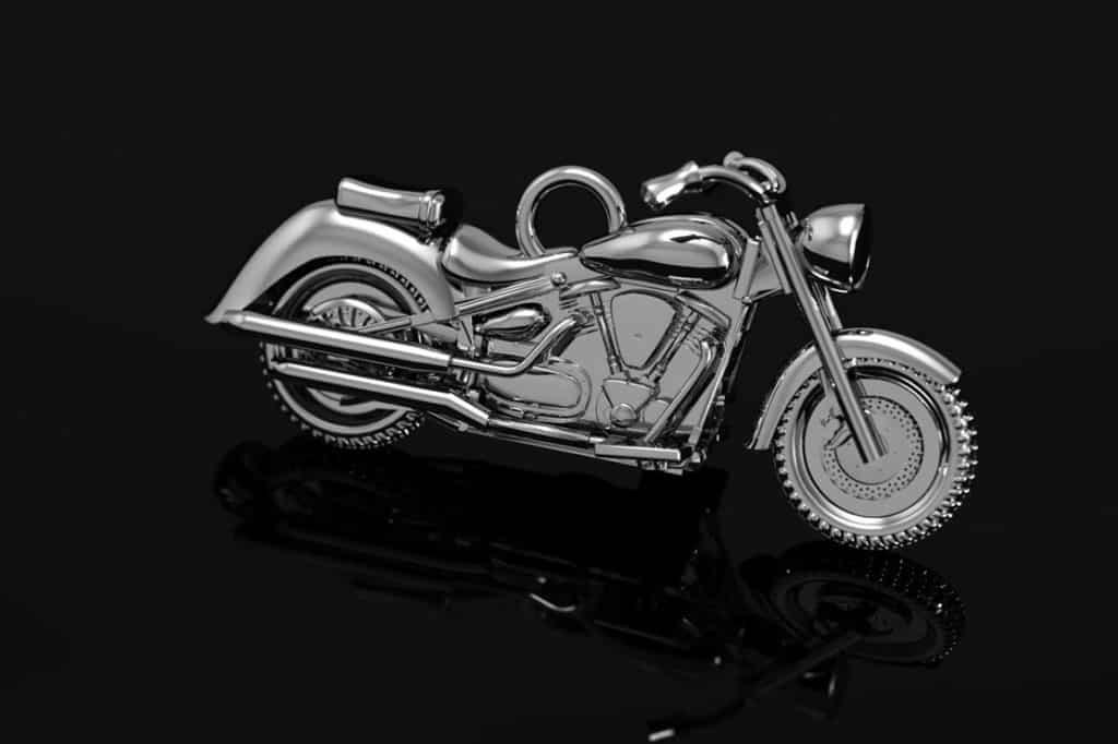Honda motorsykkel i oksidert sølv